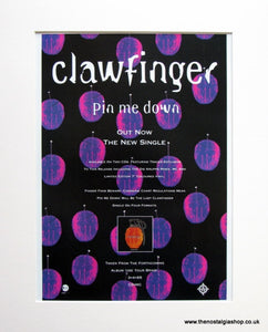 Clawfinger Pin Me Down 1995 Original Advert (ref AD941)