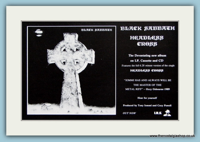 Black Sabbath Headless Cross Original Advert 1989 (ref AD1932)