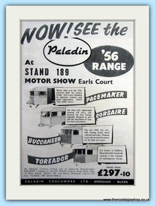 Paladin Earls Court Motor Show Original Advert 1955 (ref AD6346)