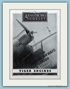 Armstrong Siddeley Tiger Engines. Original Advert 1938 (ref AD4199)