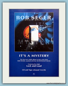 Bob Seger & The Silver Bullet Band It's A Mystery 1996 Original Music Advert (ref |AD3440)