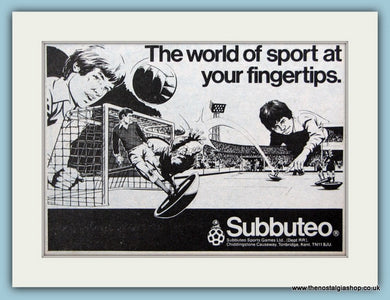 Subbuteo Sports Original Advert 1980 (ref AD6410)