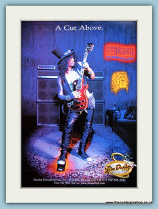 Jim Dunlop Accessories Featuring Slash. Original Advert 2002 (ref AD2352)