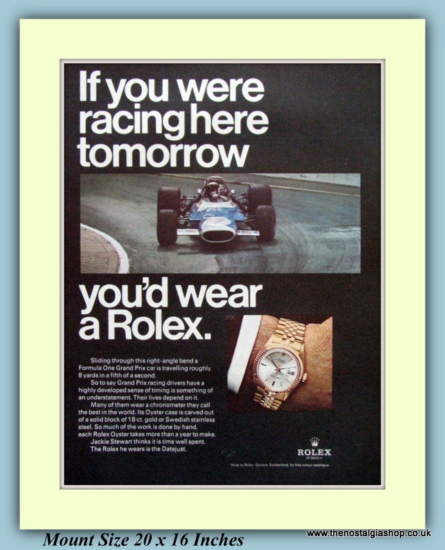 Rolex Chronometer Grand Prix Original Advert 1969 (ref AD9376)