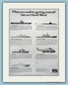 Royal Navy, What's at Stake. Original Advert 1970 (ref AD6077)