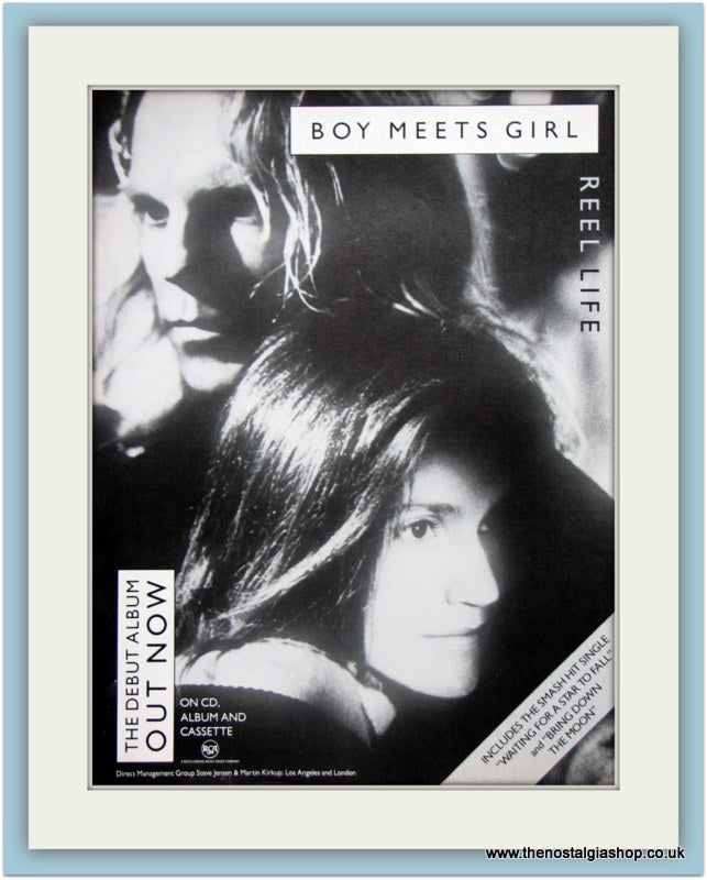 Boy Meets Girl Reel Life1989 Original Advert (ref AD3322)