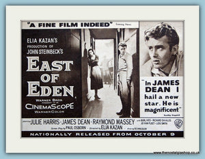 East Of Eden starring James Dean, 1955 Original Advert (ref AD3234)