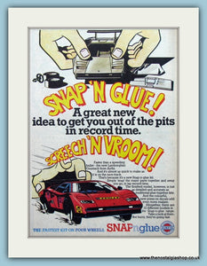 Airfix Snap N Glue Lamborghini Original Advert 1981 (ref AD6418)