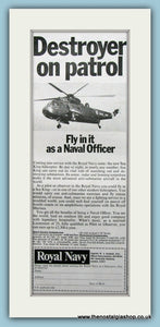 Royal Navy Sea King. Original Advert 1968 (ref AD6052)