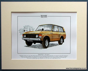 Range Rover - The Original. Mounted Print (ref PR3087)