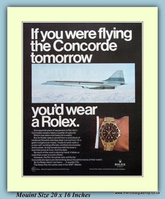 Rolex GMT-Master Watch Concorde Original Advert 1969 (ref AD9378)