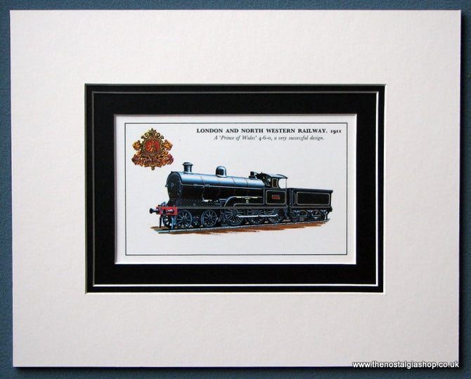 'Prince Of Wales' London And North Western Railway 1911 Mounted Print (ref SP8)