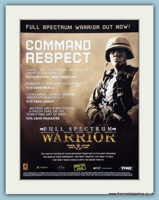 Full Spectrum Warrior Original Advert 2004 (ref AD4018)