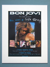 Load image into Gallery viewer, Bon Jovi 1990's 2 x Original Adverts (ref AD871)