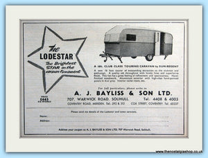 The Lodestar Caravan By Sun-Regent Original Advert 1955 (ref AD5069)
