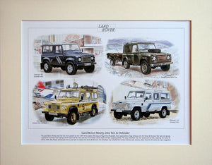 Land Rover Ninety, One Ten & Defender  Mounted print (ref PR6002)