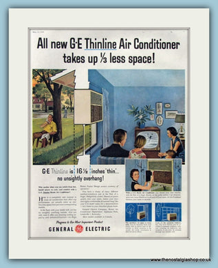 General Electric Thinline Air Conditioner Original Advert 1956 (ref AD8206)