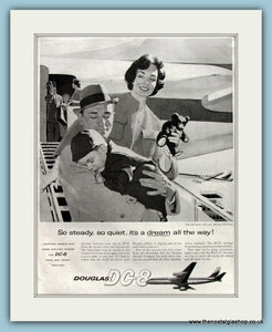 Douglas DC-8 Original Advert 1960 (ref AD8270)