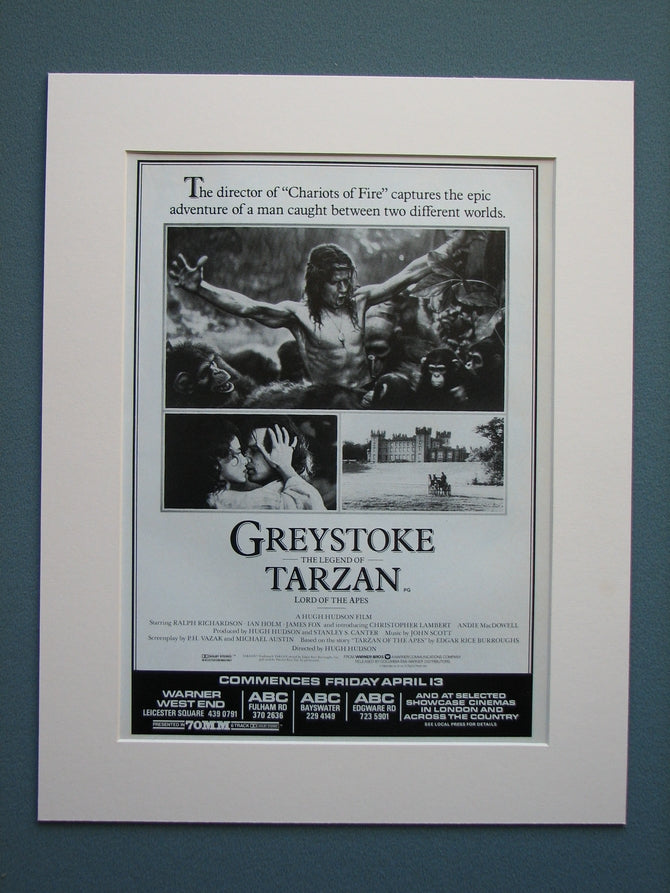 Greystoke The Legend of Tarzan 1984 Original advert (ref AD548)
