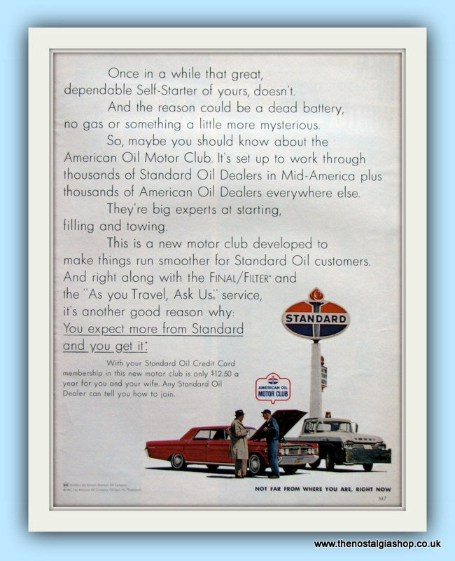 Standard Oil Original Advert 1967  (ref AD8098)