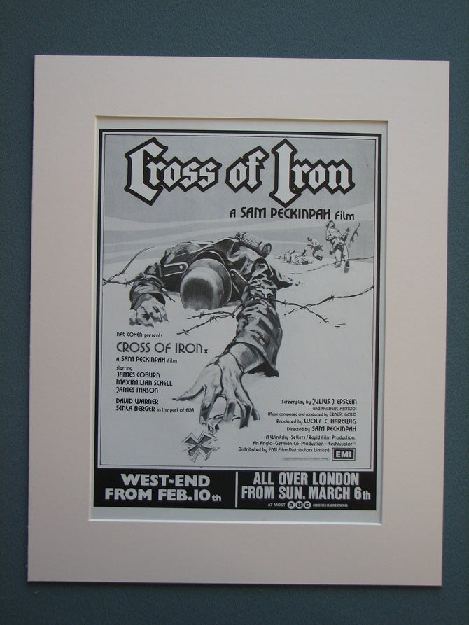 Cross Of Iron 1977 Original advert (ref AD732)