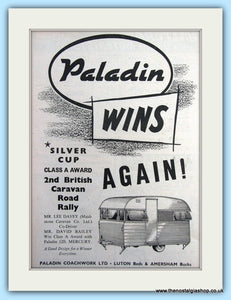 Paladin Caravan Road Rally Silver Cup Original Advert 1955 (ref AD6344)