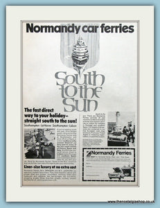 Normandy Ferries Original Advert 1969 (ref AD2321)