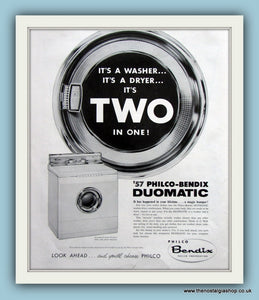 Philco-Bendix Duomatic Original Advert 1957 (ref AD8172)