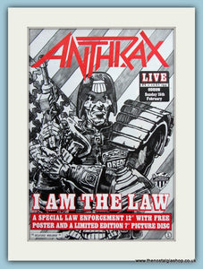 Anthrax I am The Law 1987 Original Advert (ref AD3050)