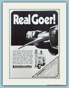 Lambretta, Real Goer! 1970 Original Advert (ref AD4071)