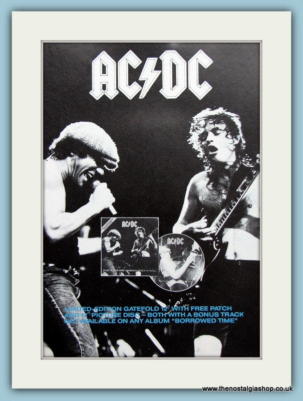 AC DC That's The Way I Wanna Rock N Roll. Original Advert 1988 (ref AD3102)