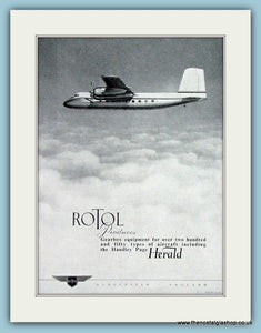 Handley Page Herald Rotol 1956 Original Advert (ref AD4266)