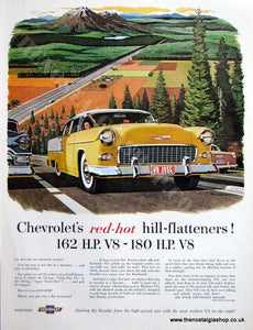 Chevrolet Turbo Fire V8. Original advert 1955 (ref AD4086)