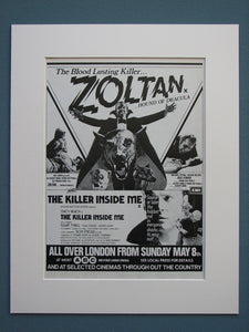 Zoltan Hound of Dracula 1977 Original advert (ref AD611)