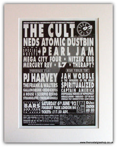 In The Park 1992 Event Advert. The Cult (ref AD1811)