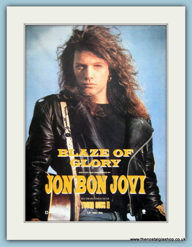 Bon Jovi Blaze Of Glory 1990 Original Advert (ref AD3277)