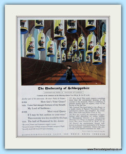 Schweppes Drinks The University Of Schweppshire Original Advert 1961 (ref AD5013)
