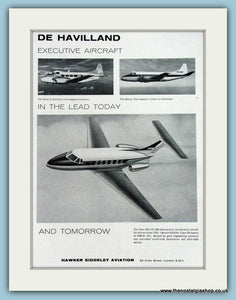 De Havilland Aircraft. Original Advert 1961 (ref AD4258)