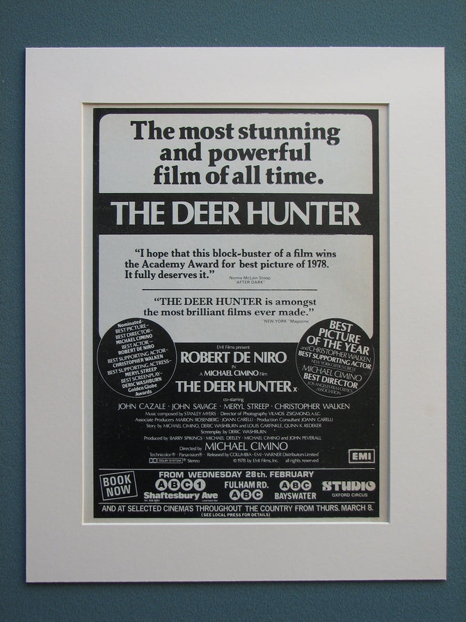 The Deer Hunter 1978 Original advert (ref AD633)