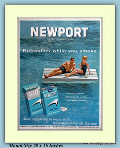 Newport Menthol Cigarettes Original Advert 1963 (ref AD9432)