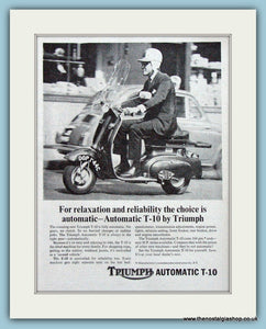 Triumph Scooter Automatic T-10 Original Advert 1965 (ref AD4198)