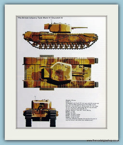 British Infantry Tank Mark IV Churchill IV Print (ref PR481)