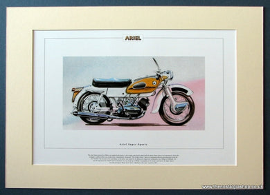 Ariel Super Sports Mounted Motorcycle Print (ref PR3042)