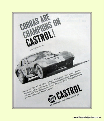 AC Cobra on Castrol. Original Advert 1965 (ref AD6611)