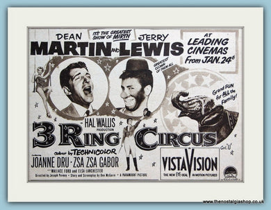 3 Ring Circus-Dean Martin, Jerry Lewis 1955 Original Film Advert (ref AD3338)