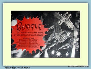 Budgie On Tour April/May Original Advert 1976 (ref AD9407)