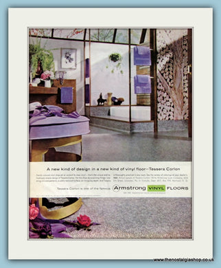 Armstrong Vinyl Floors. Original Advert 1960 (ref AD8290)