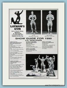 Show Guide For 1990 U.K Qualifiers Original Advert (ref AD3929)