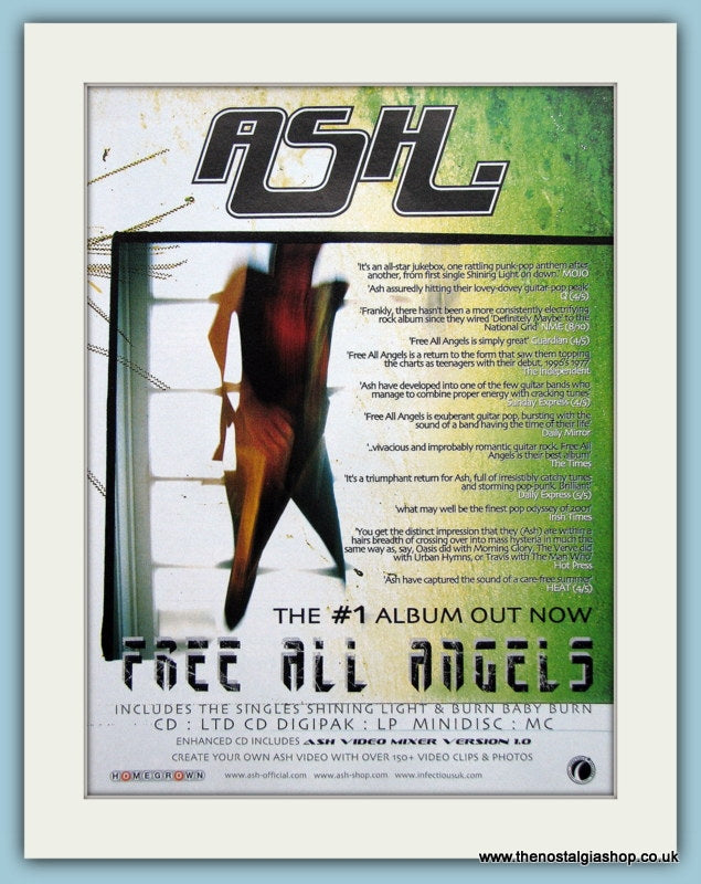 ASH Free All Angels, 2001 Original Advert (ref AD3165)