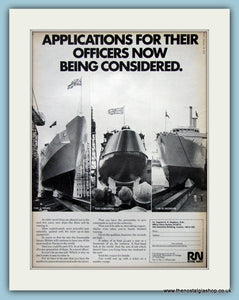 Royal Navy Officers. Original Advert 1972 (ref AD6080)